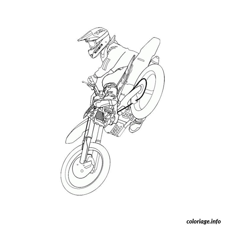 Dessin Moto Cross – 3 Design tout Moto Cross À Colorier