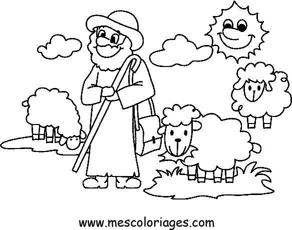 Dessin Mouton Et Agneau concernant Coloriage Mouton À Imprimer