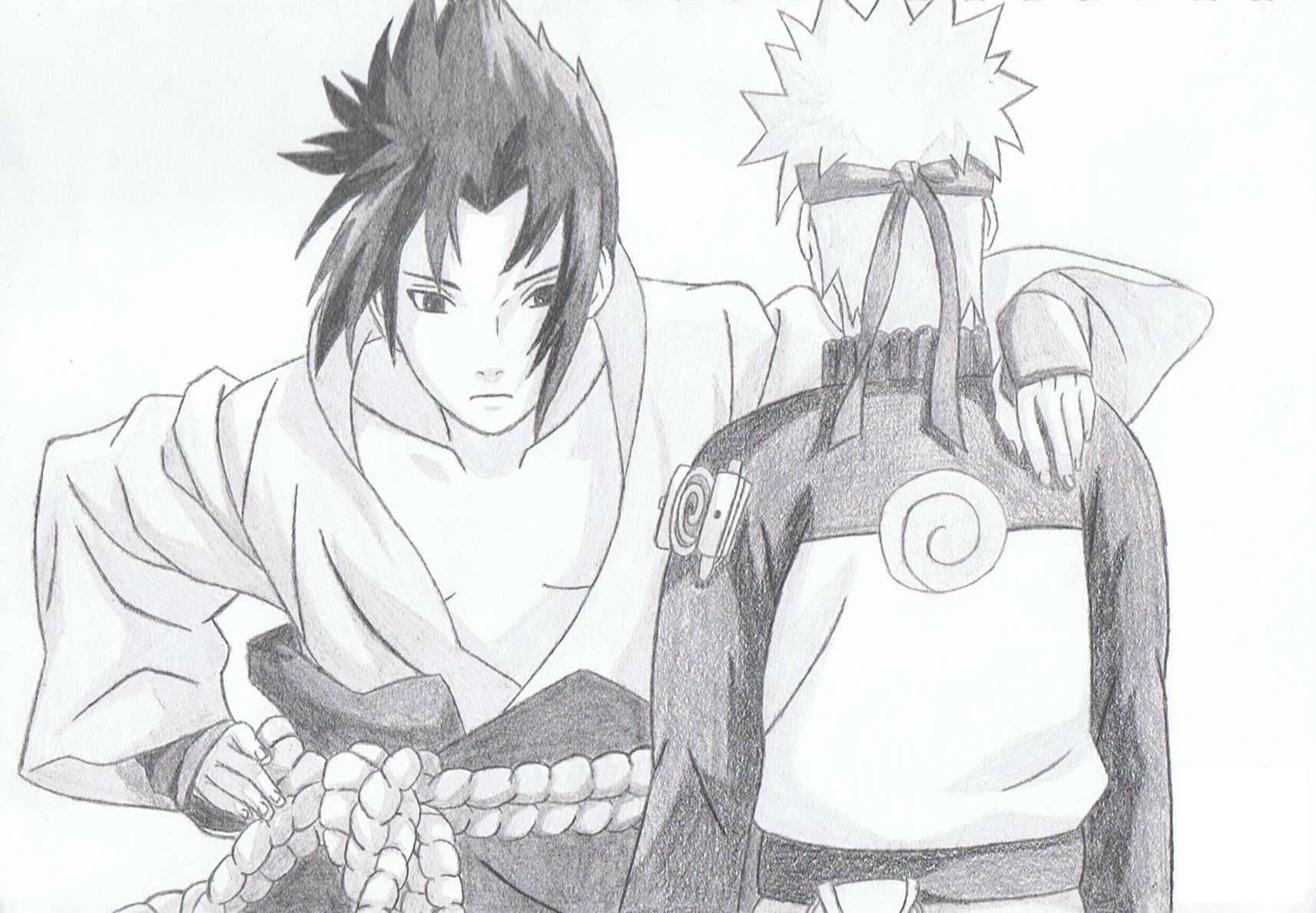 Dessin Naruto Et Sasuke concernant Coloriage Naruto Sasuke