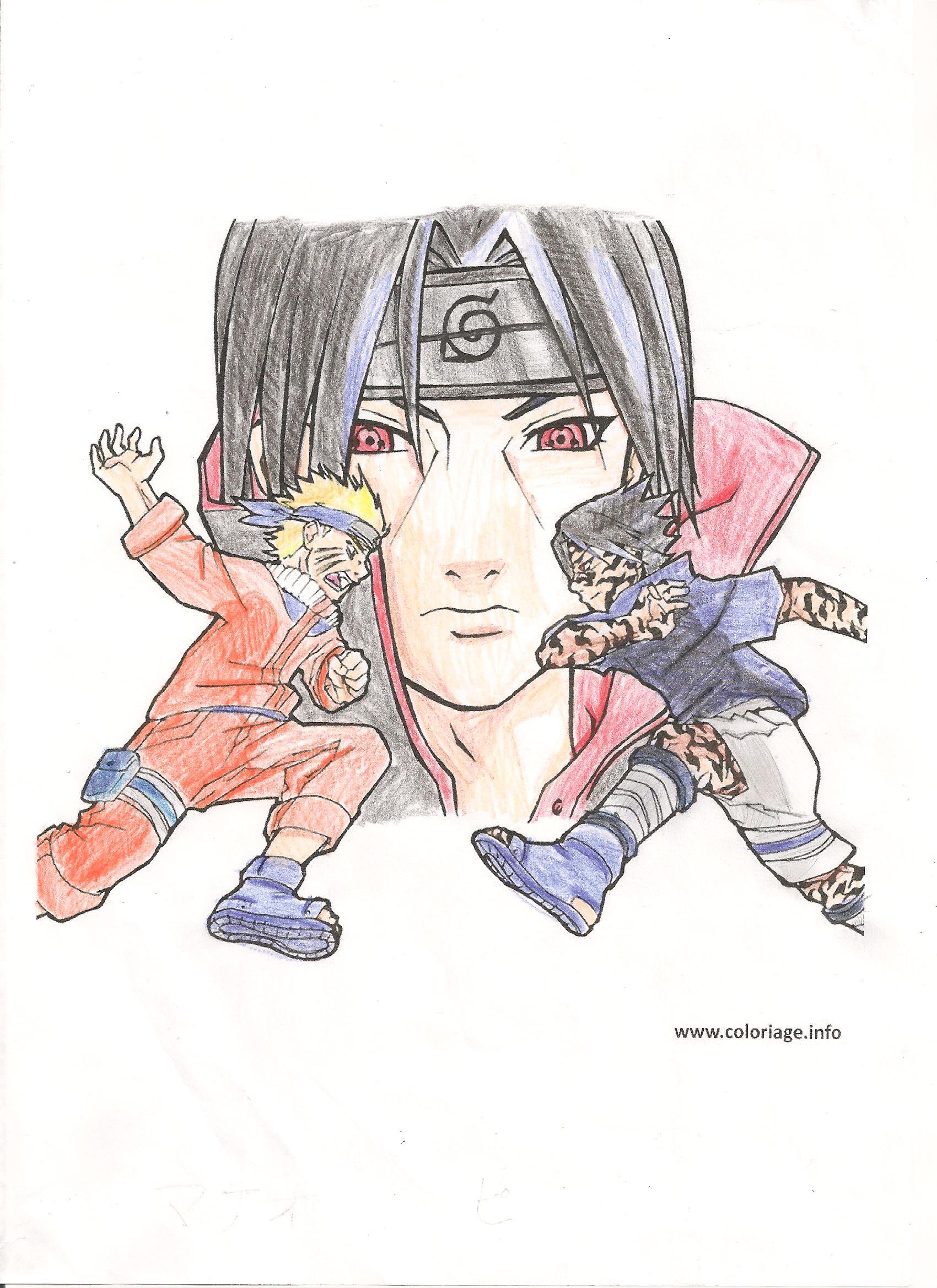 Dessin Naruto Et Sasuke destiné Coloriage Naruto Sasuke