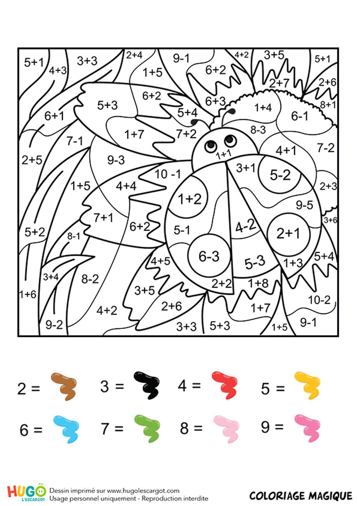 Dessin Numéroté À Colorier Adulte Dessin Numéroté À destiné Coloriage Magique Cp À Imprimer