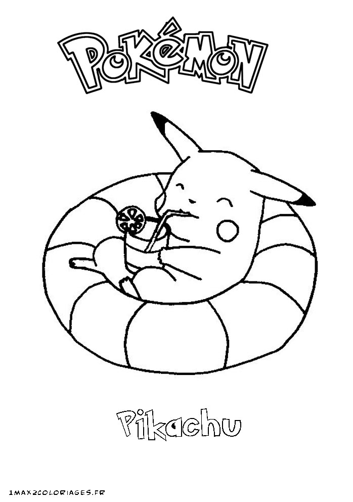 Dessin Pikachu Noel dedans Coloriage De Pokemon A Imprimer