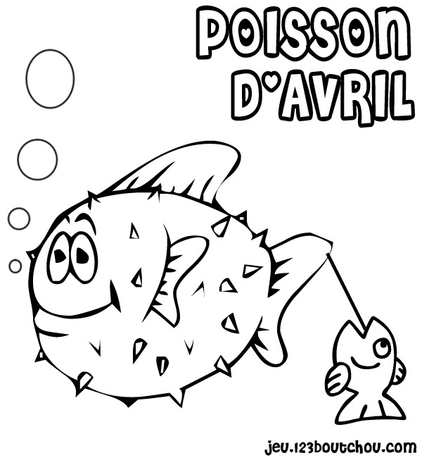 Dessin Poisson D'Avril Gratuit Imprimer avec Poisson D Avril A Imprimer Coloriage