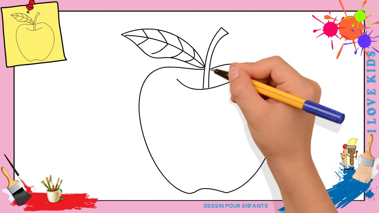 Dessin Pomme - Comment Dessiner Une Pomme Facilement Pour à Dessin Enfant