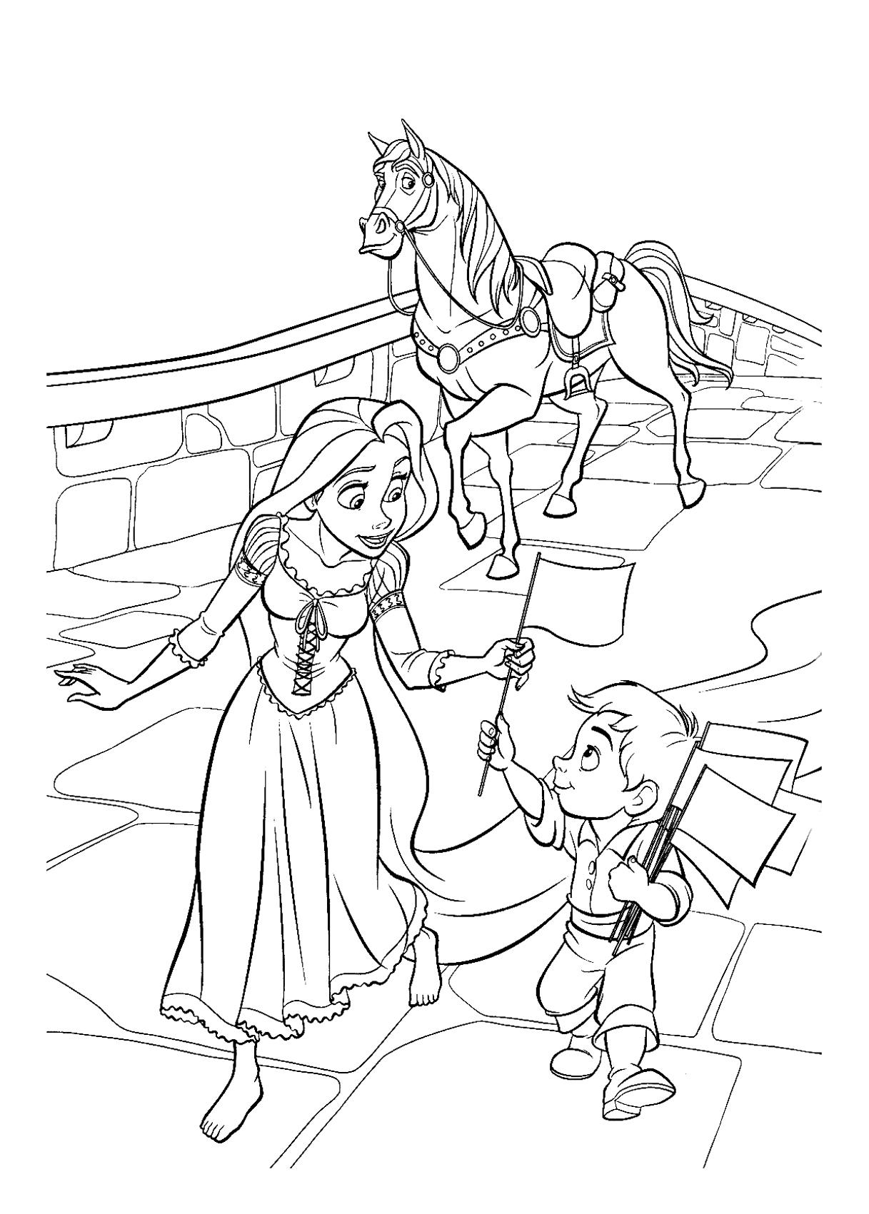 Dessin Princesse Raiponce Gratuit à Imprimer concernant Dessin De Raiponce A Colorier