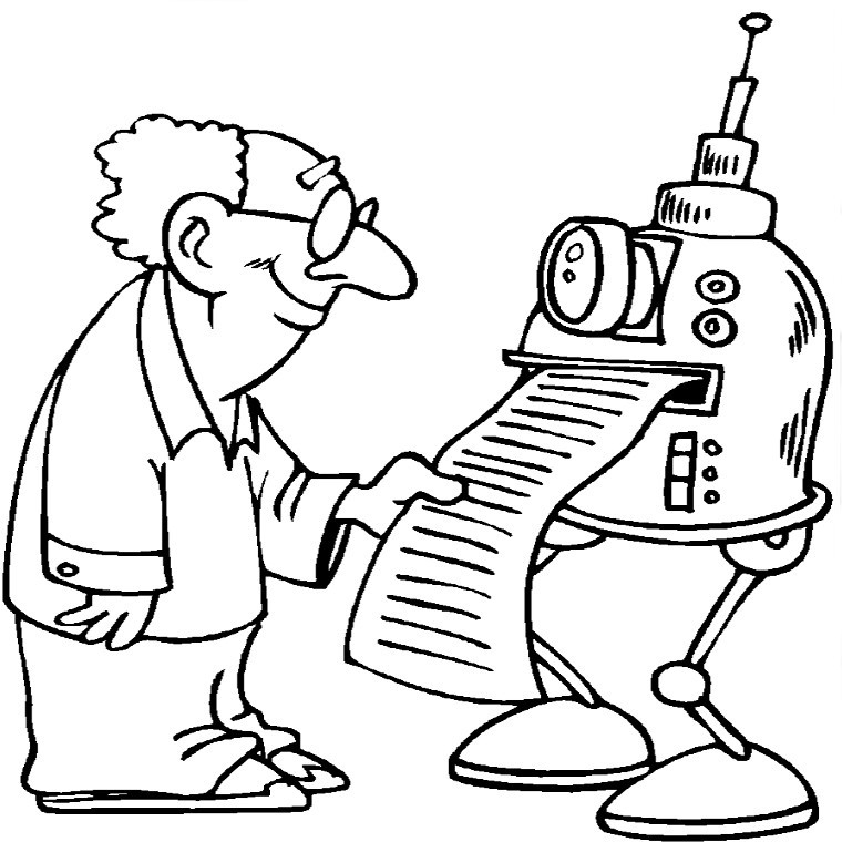 Dessin Robot Poli pour Coloriage Siborge ? Imprimer