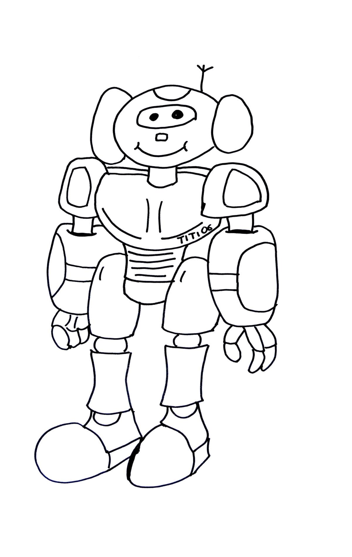 Dessin Robot Transformers serapportantà Dessin ? Colorier Ciborg