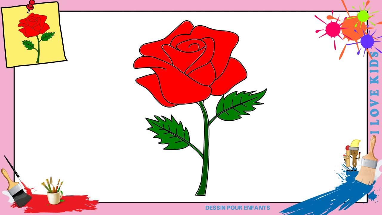 Dessin Rose 2 - Comment Dessiner Une Rose Facilement Etape dedans Image De Dessin A Dessiner