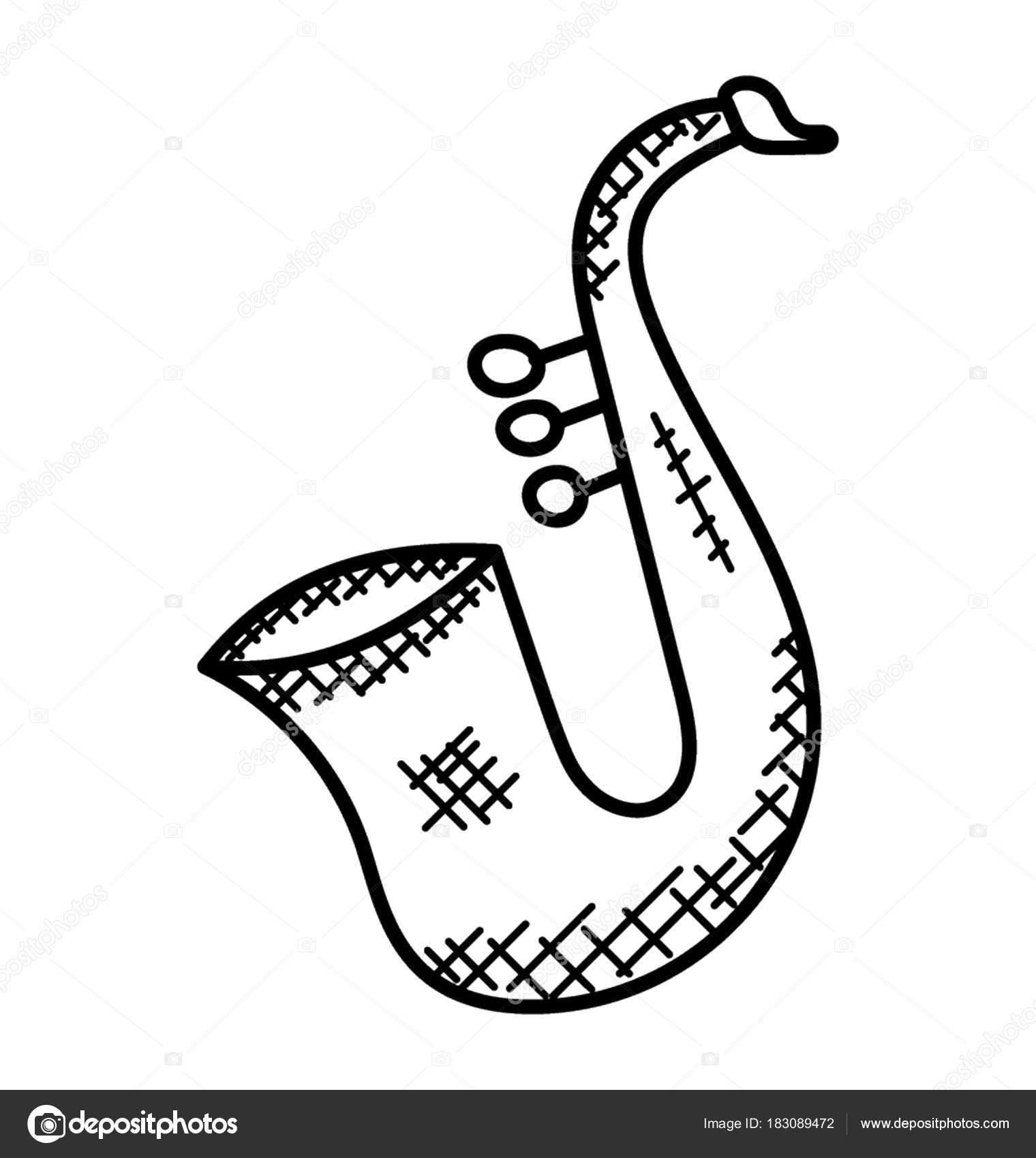 Dessin Simple Main Instrument Musique Connu Comme encequiconcerne Dessin D Instrument De Musique
