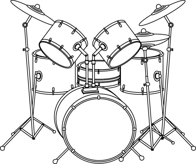 Dessin, Une Batterie | Dessin De Musique, Batterie Musique destiné Dessin D Instrument De Musique