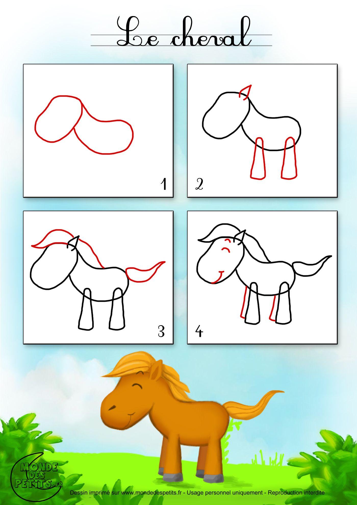 Dessin1_Comment Dessiner Un Cheval ? (Avec Images serapportantà Etapes Pour Dessiner Facilement Des Tulipes