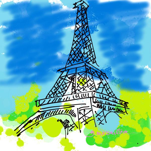 Dessiner Digital Avec L'Ipad Pro De Chez Apple concernant Dessiner La Tour Eiffel