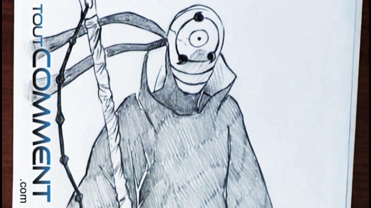 Dessiner Tobi (Naruto Shippuden) 💀 - encequiconcerne Dessin Naruto
