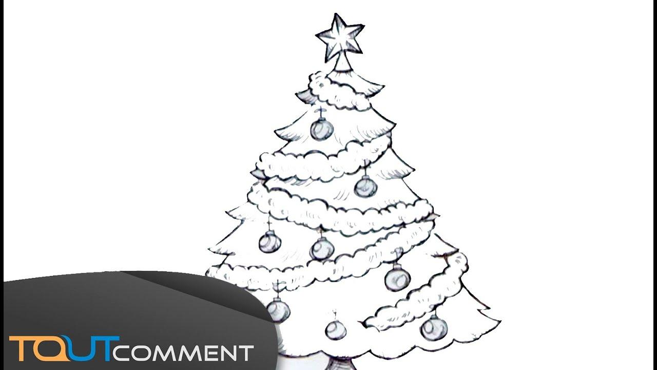 Dessiner Un Arbre De Noël - tout Image De Dessin De Noel