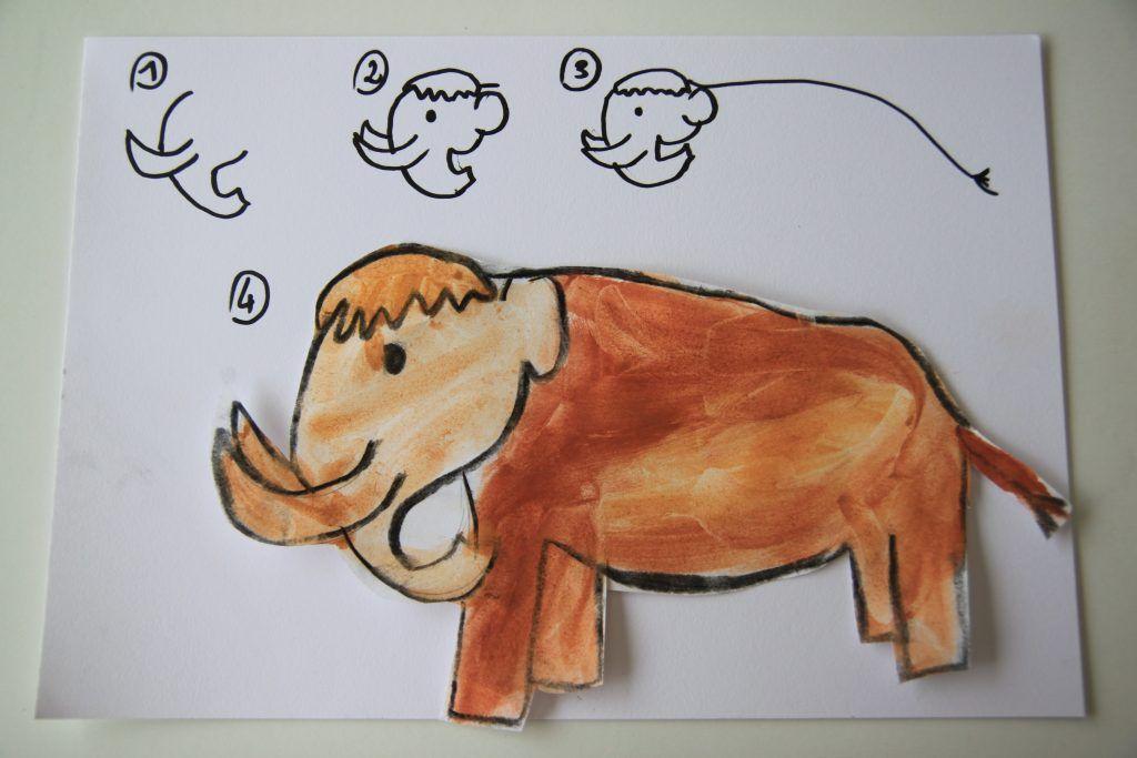 Dessiner Un Mammouth Apprendre À Dessiner Dessin Enfant pour Dessin De La Préhistoire A Imprimer