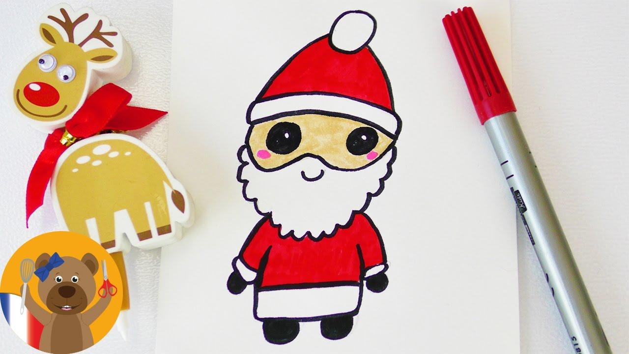 Dessiner Un Père Noël Kawaii | Adorable Père-Noël Comme encequiconcerne Dessin De Noêl