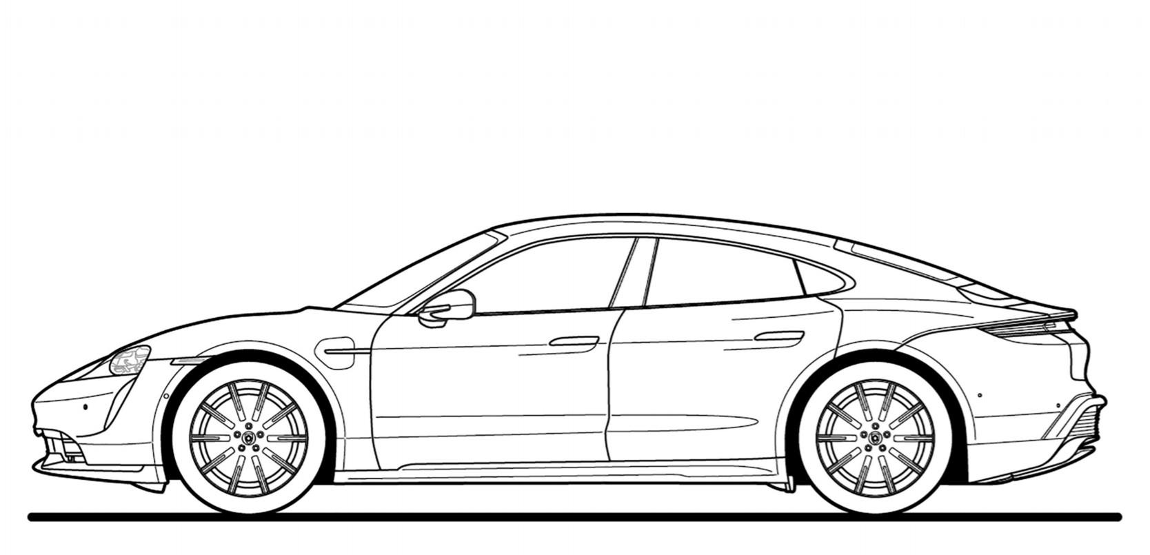Dessins Automobiles À Imprimer : Faites Le Plein De à Coloriage Porsche A Imprimer