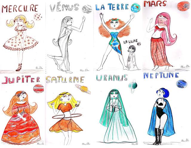 Dessins De Miss Lilou: Les Miss Lilouplanètes Du Système pour Systeme Solaire Dessin
