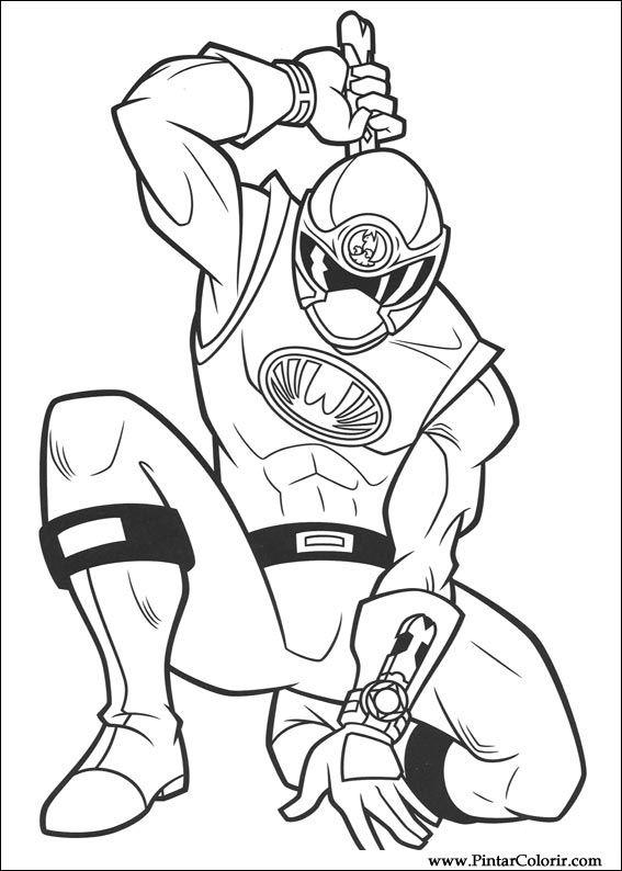 Dessins De Peindre Et Couleur Power Rangers - Imprimer intérieur Coloriage Power Rangers Ninja Steel A Imprimer