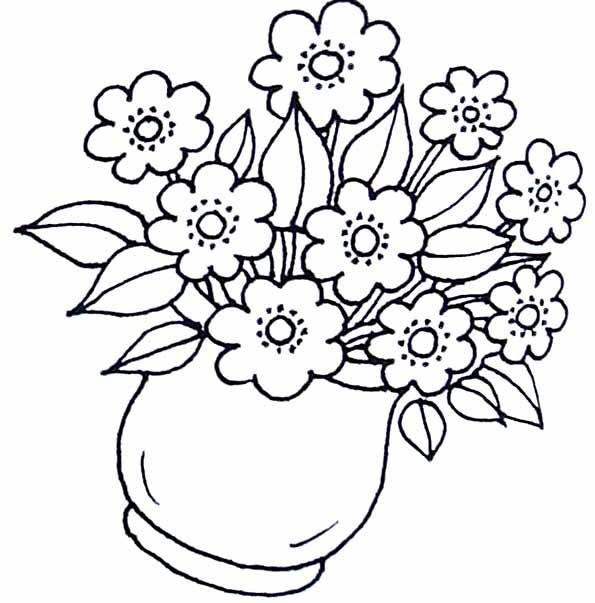 Dessins En Couleurs À Imprimer : Fleurs, Numéro : 12882 pour Coloriage Bouquet De Fleurs A Imprimer
