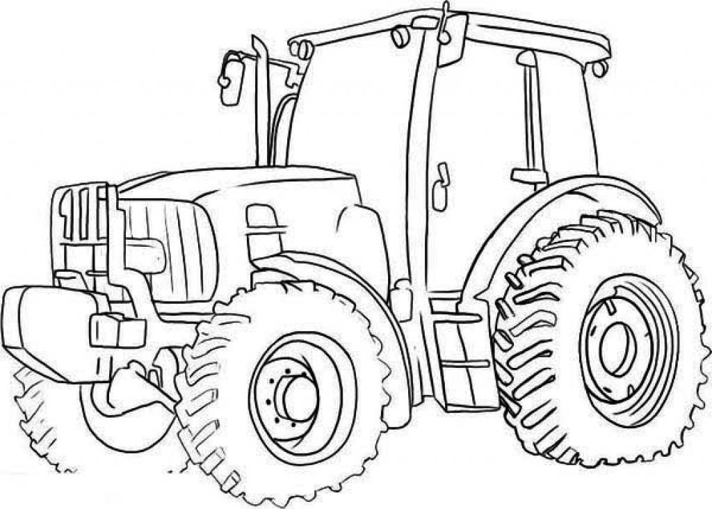Dessins Et Coloriages: 5 Coloriages De Tracteurs En Ligne à Dessin De Tracteur A Colorier