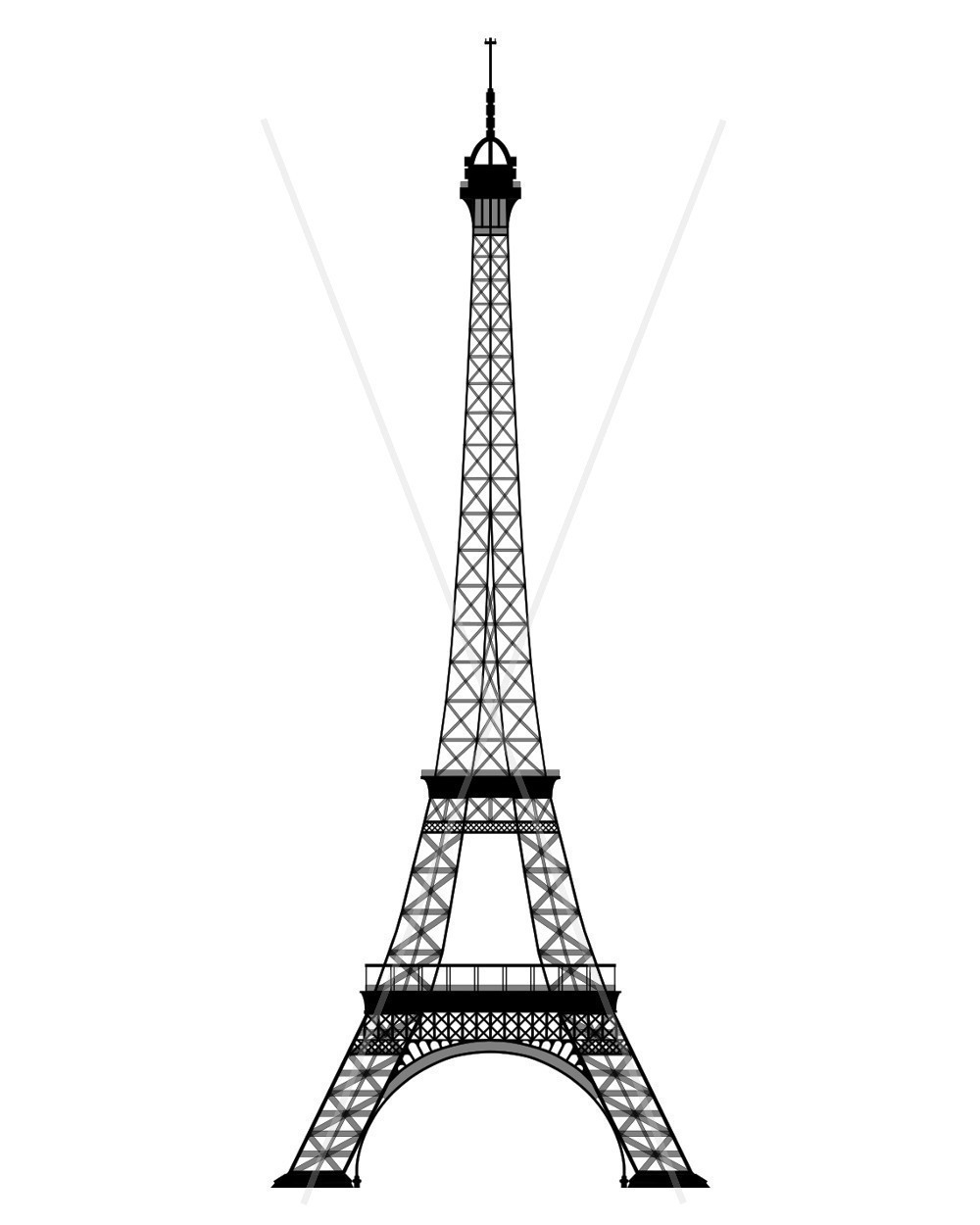Dessins Et Coloriages: Page De Coloriage Grand Format À à Tour Eiffel À Imprimer