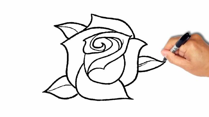 Dessins Facile À Faire – Le Guide Pour Les Débutants De avec Rose Facile A Dessiner