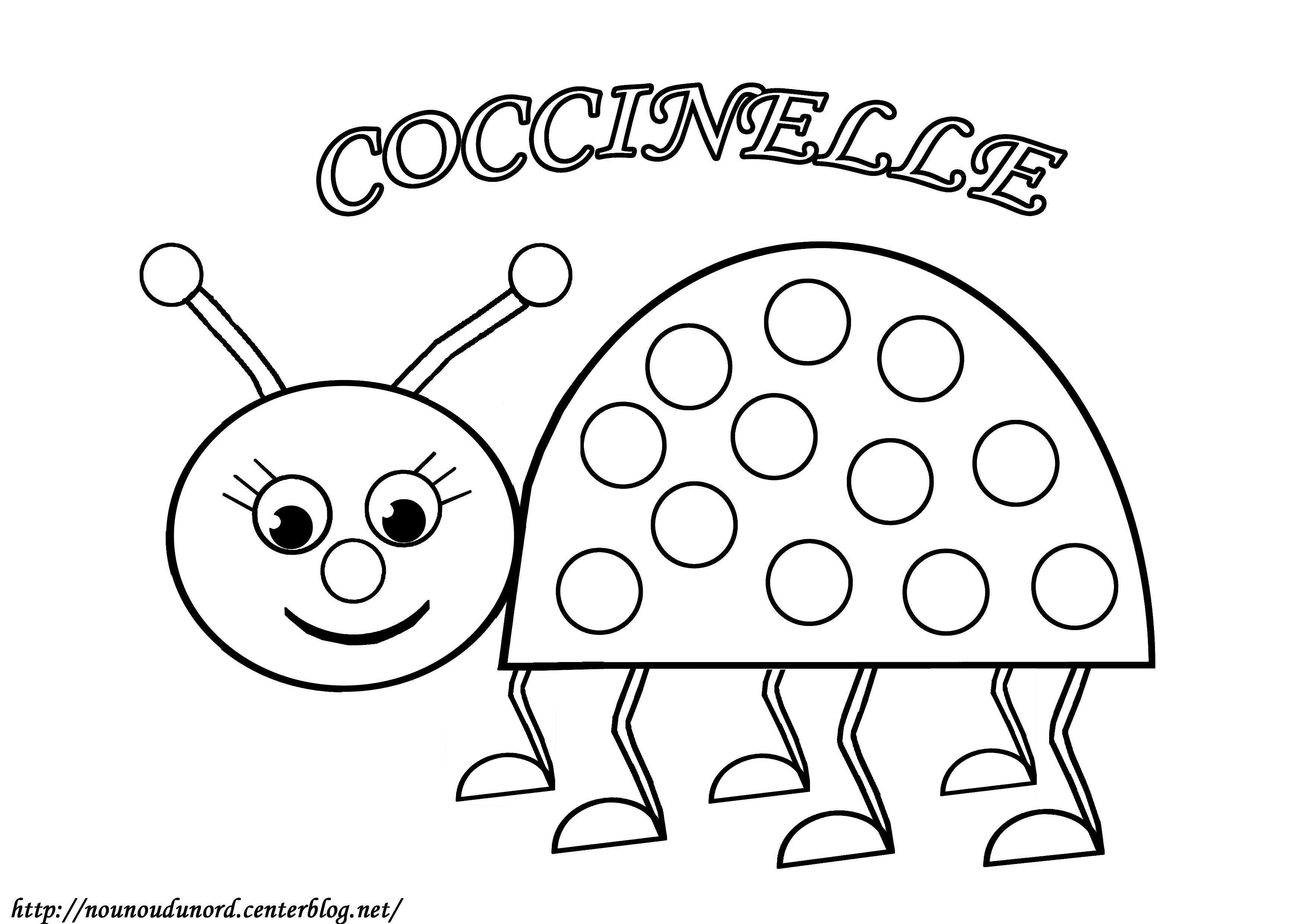 Dessins Gratuits À Colorier - Coloriage Coccinelle À Imprimer pour Coloriage Coccinelle