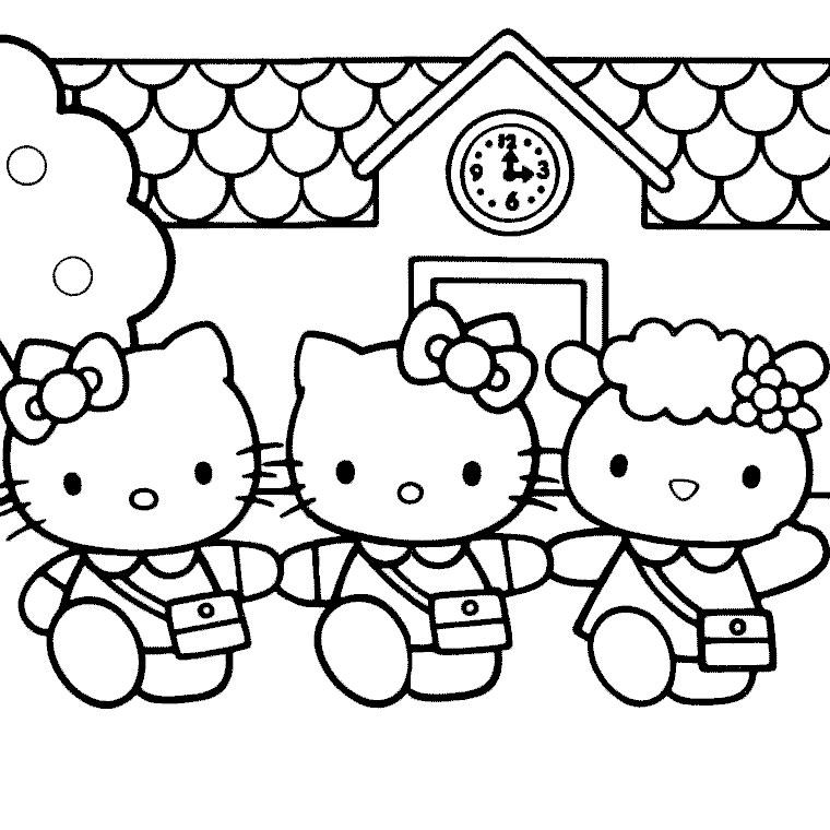Dessins Gratuits À Colorier - Coloriage Hello Kitty destiné Coloriage A Imprimer Hello Kitty