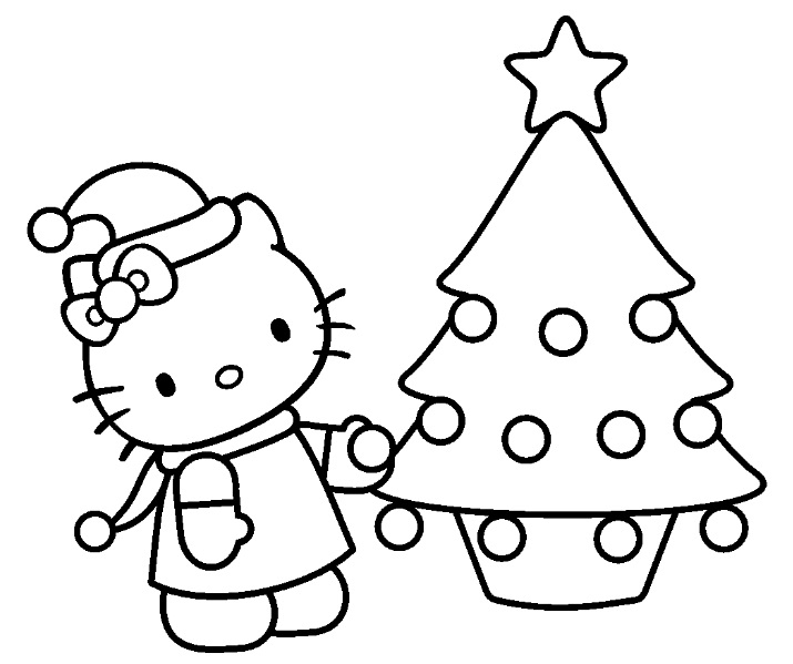 Dessins Gratuits À Colorier - Coloriage Hello Kitty Noel À avec Dessin A Imprimer Hello Kitty