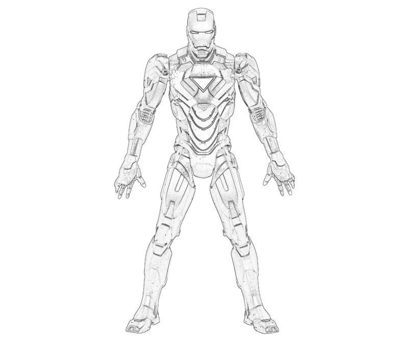 Dessins Gratuits À Colorier - Coloriage Iron Man À ...