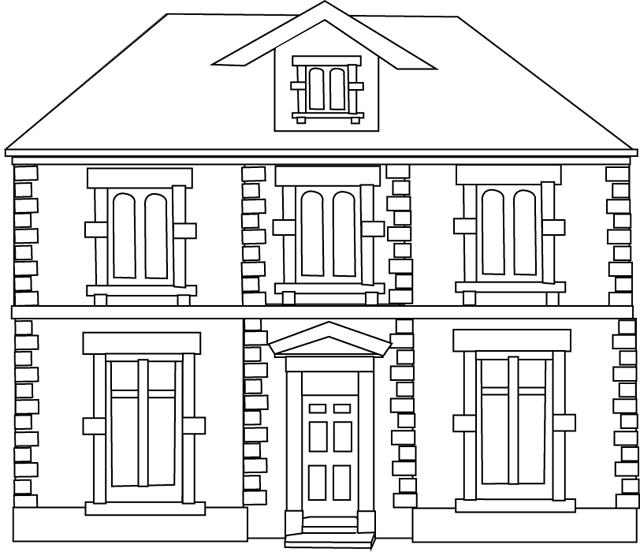 Dessins Gratuits À Colorier - Coloriage Maisons À Imprimer intérieur Dessin Maison Facile