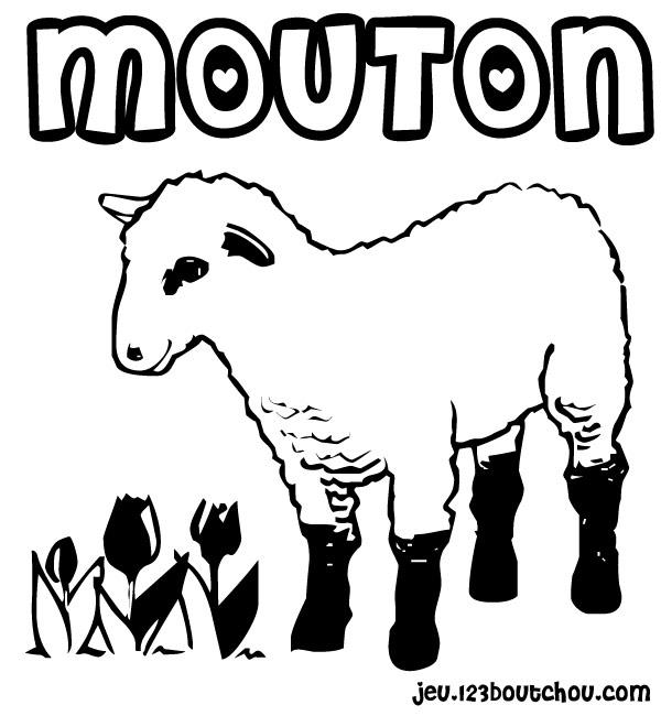 Dessins Gratuits À Colorier - Coloriage Mouton À Imprimer encequiconcerne Dessin Mouton Rigolo
