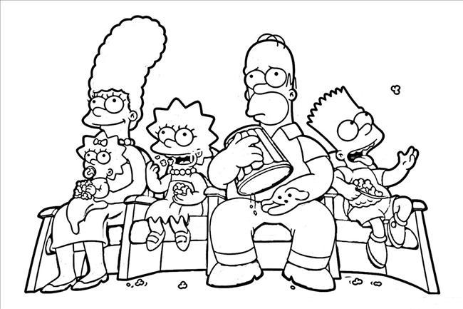 Dessins Gratuits À Colorier - Coloriage Simpson À Imprimer concernant Coloriage Simpson A Imprimer Gratuit