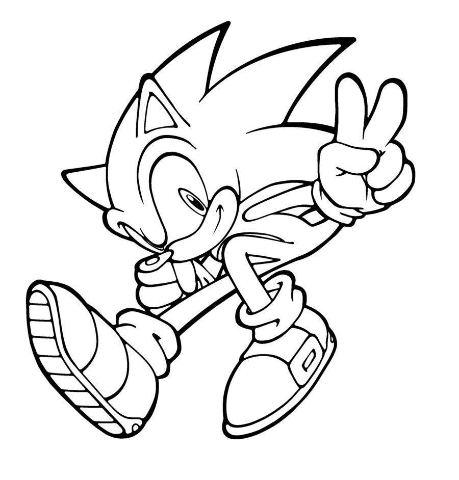 Dessins Gratuits À Colorier - Coloriage Sonic À Imprimer à Sonic À Colorier