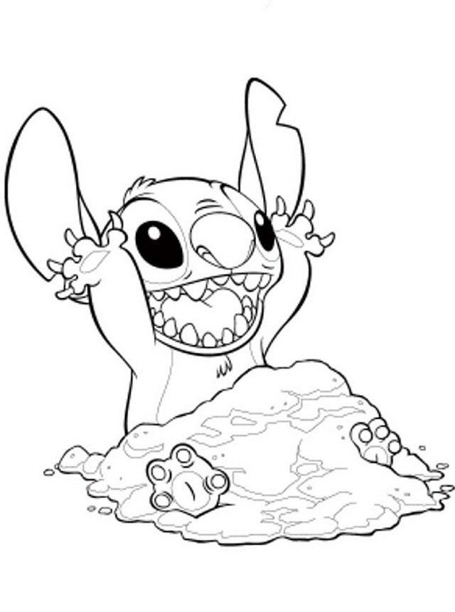 Dessins Pour Enfants Lilo Et Stitch 48 serapportantà Coloriage A Imprimer Disney Stitch