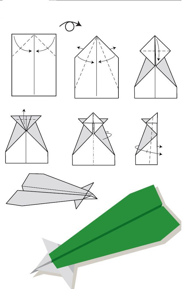 Diagramme D'Origami D'Avion Planeur En Papier : Modèle avec Origami Facile Avion