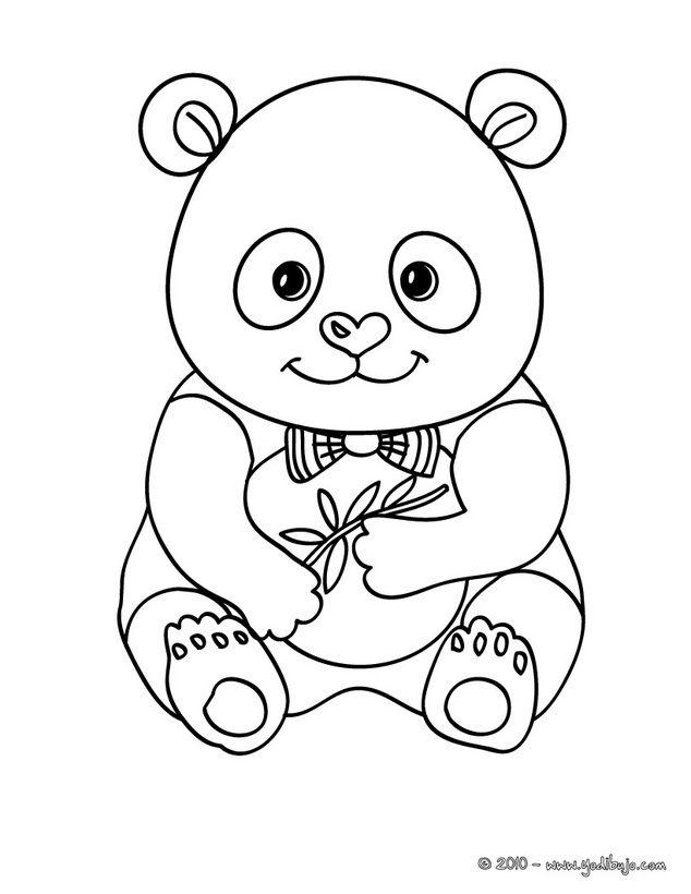 Dibujo Para Colorear : Bebe Oso Panda | Animales Salvajes dedans Panda A Colorier