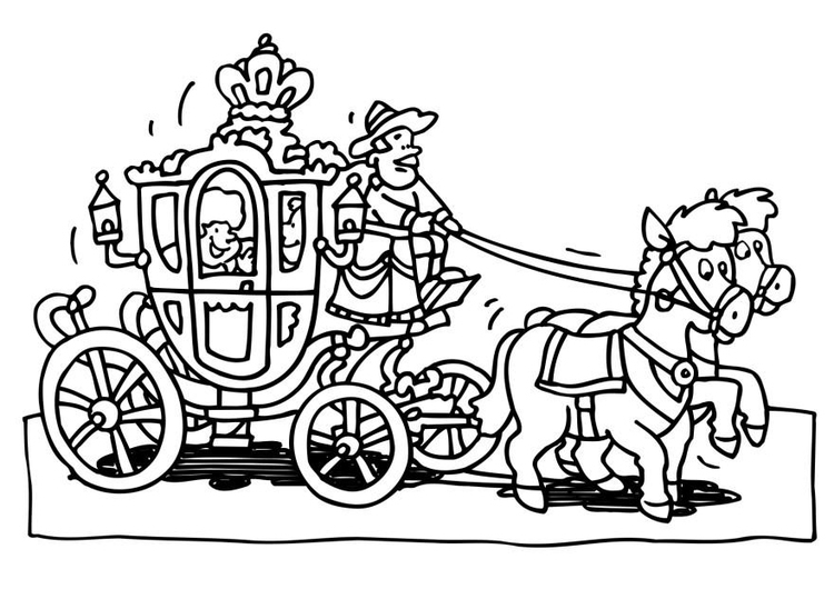Dibujo Para Colorear Carroza - Dibujos Para Imprimir Gratis à Dessin Carrosse