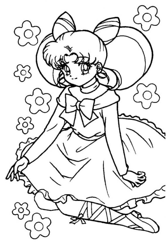 Dibujos Animados Para Colorear: Sailor Moon Para Colorear à Coloriage À Imprimer Pour Fille