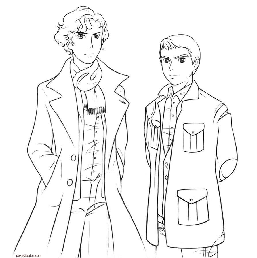 Dibujos De Sherlock Holmes Para Colorear destiné Dessin De Sherlock Holmes