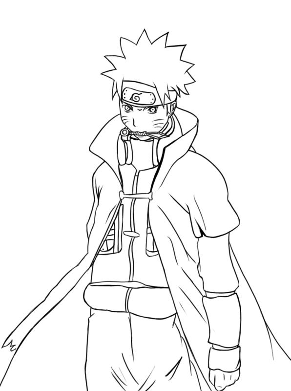 Dibujos Para Colorear | Lineart: Naruto | Naruto Shippuden intérieur Coloriage Naruto Et Kakashi