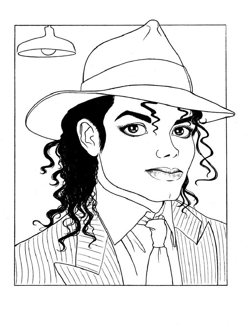 Dibujos Para Pintar De Michael Jackson | Colorear Imágenes intérieur Coloriage De Michael Jackson