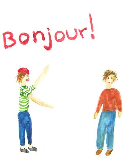 Dicas Práticas De Francês Para Brasileiros: Saudações intérieur Bonjour Monsieur Lundi. Comment Ca Va