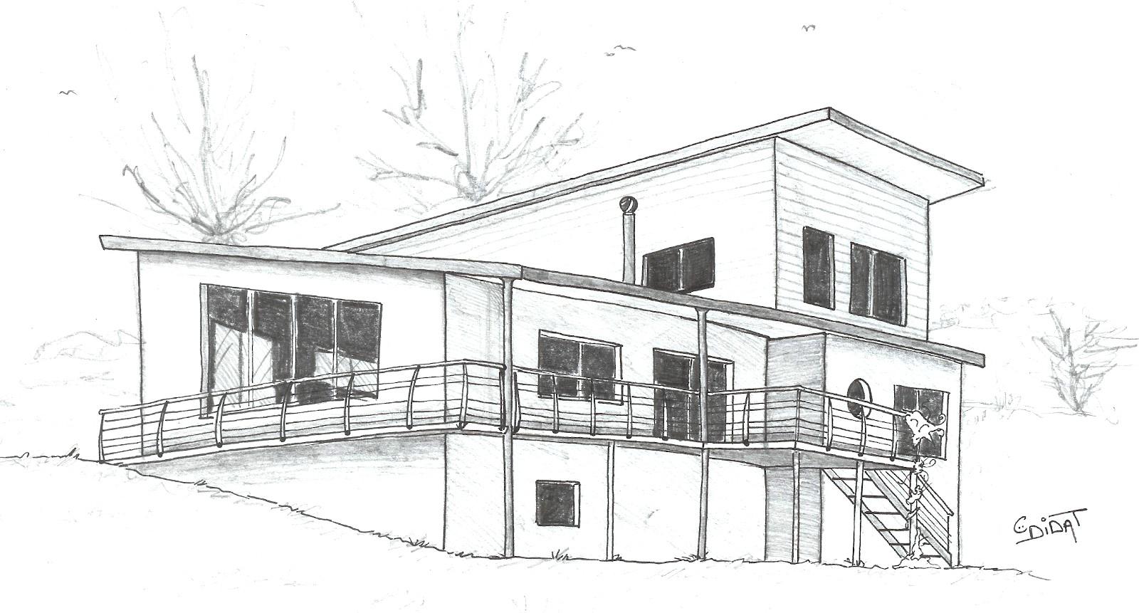 Didat Studio Dessinateur Ind Pendant My House Avec dedans Dessin De Maison Moderne
