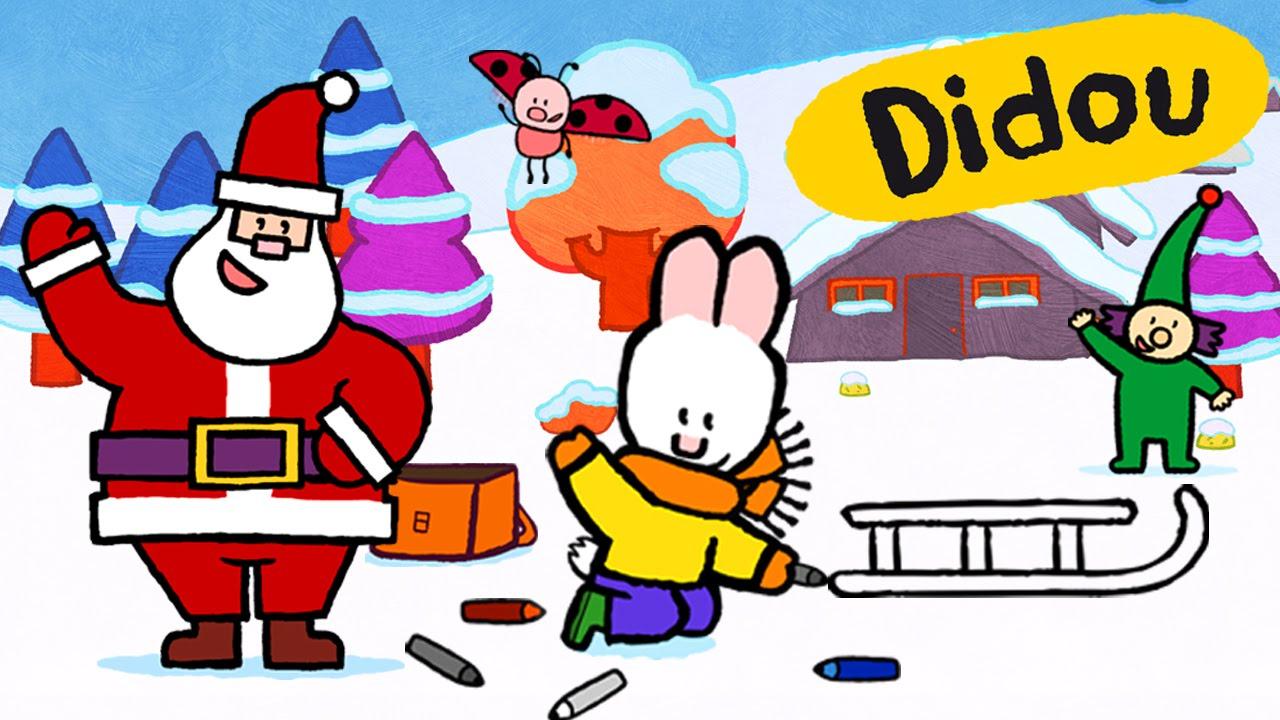 Didou Dessine-Moi Noël Didou Et L'Assistant Du Père Noël intérieur Dessin De Noêl