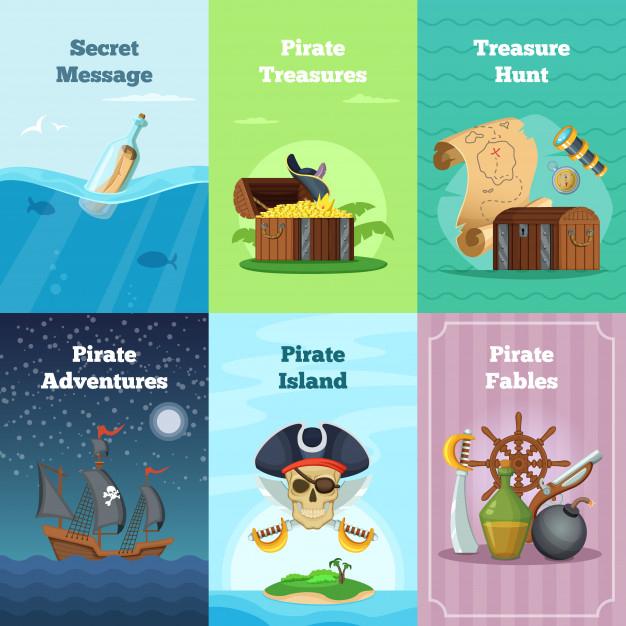 Différentes Cartes D'Invitation Du Thème Des Pirates concernant Chasse Au Tresors Theme Des Pirates
