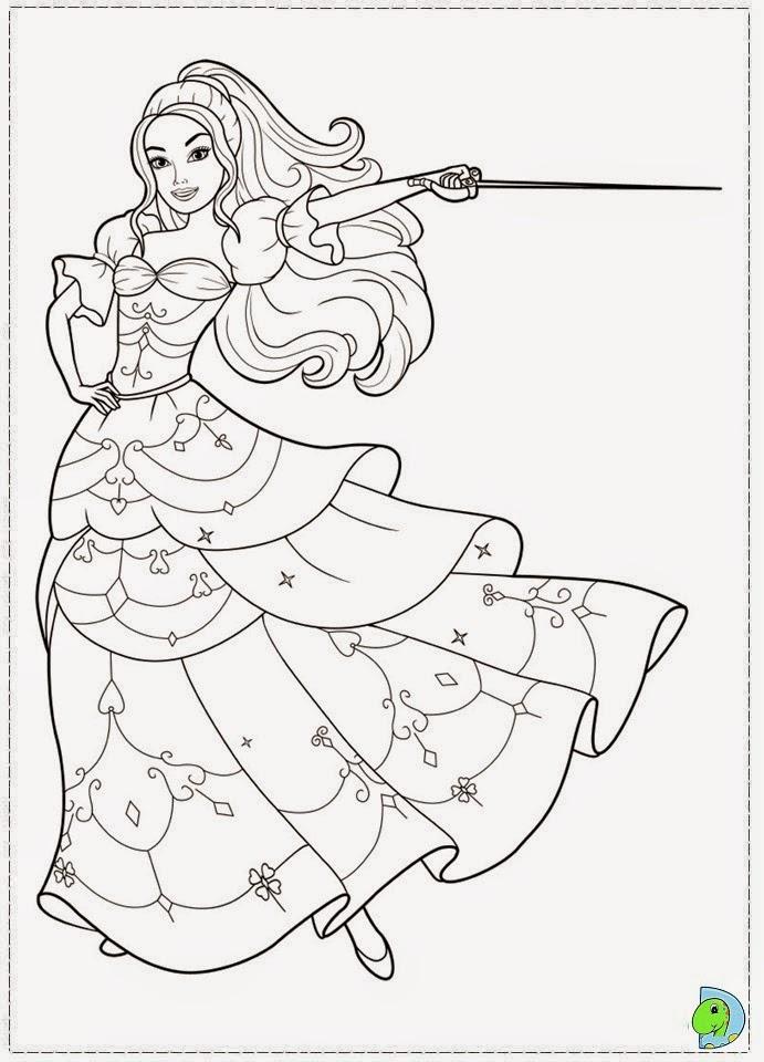 Dinokids - Desenhos Para Colorir: Desenhos Da Barbie E As à Dessin De Barbie A Imprimer