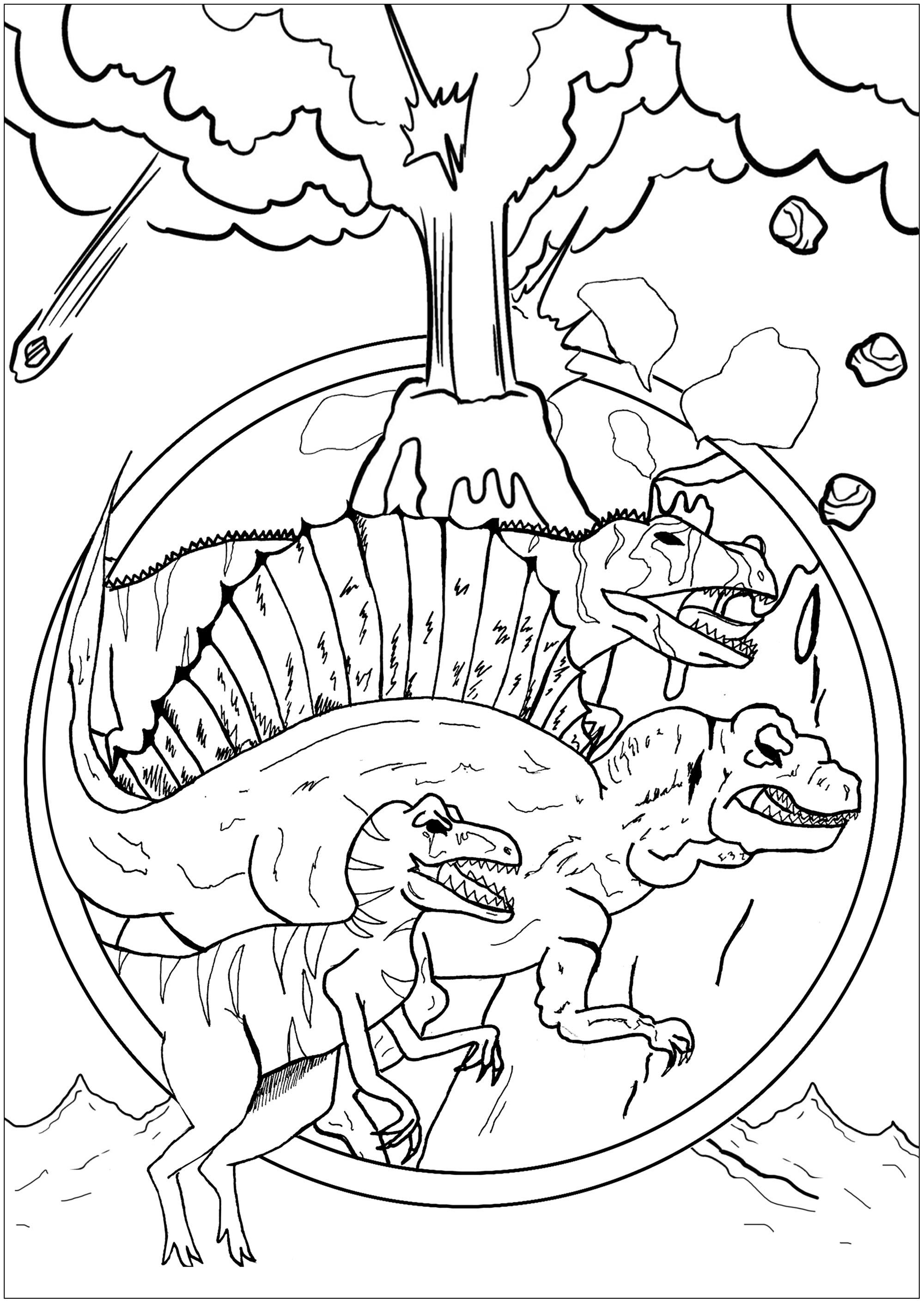 Dinosaurios 36051 - Dinosaurios - Colorear Para Adultos serapportantà Dinausore Coloriage