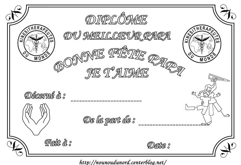 Dipl Me Du Meilleur Papy Gratuit Imprimer Avec Et Diplome concernant F?Te Des P?Res 2020 Dessin ? Imprimer